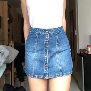PacSun button up jean skirt 24